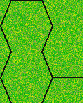 hex grid over clear terrain