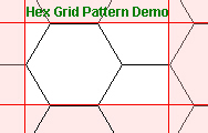 Hex Grid Pattern Demo